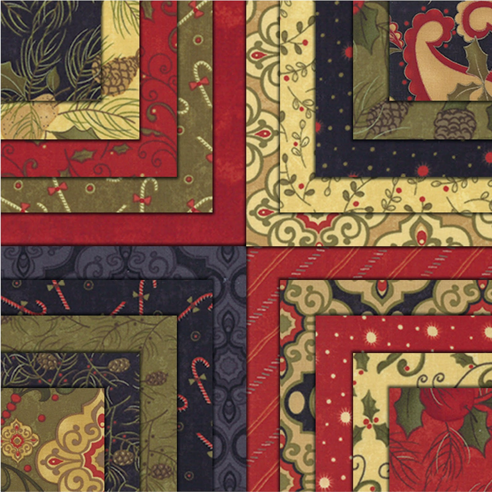 Moda PINE FRESH Christmas Quilt Fabric by Sandy Gervais for Moda Fabrics