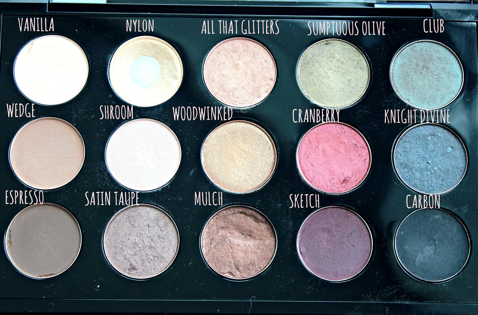 My mac eyeshadow collection swatches 15 pan pro palette my mac eyeshadow palette mac eyeshadow collection mac eyeshadow swatches neutral mac eyeshadows thecheapjerseys Image collections