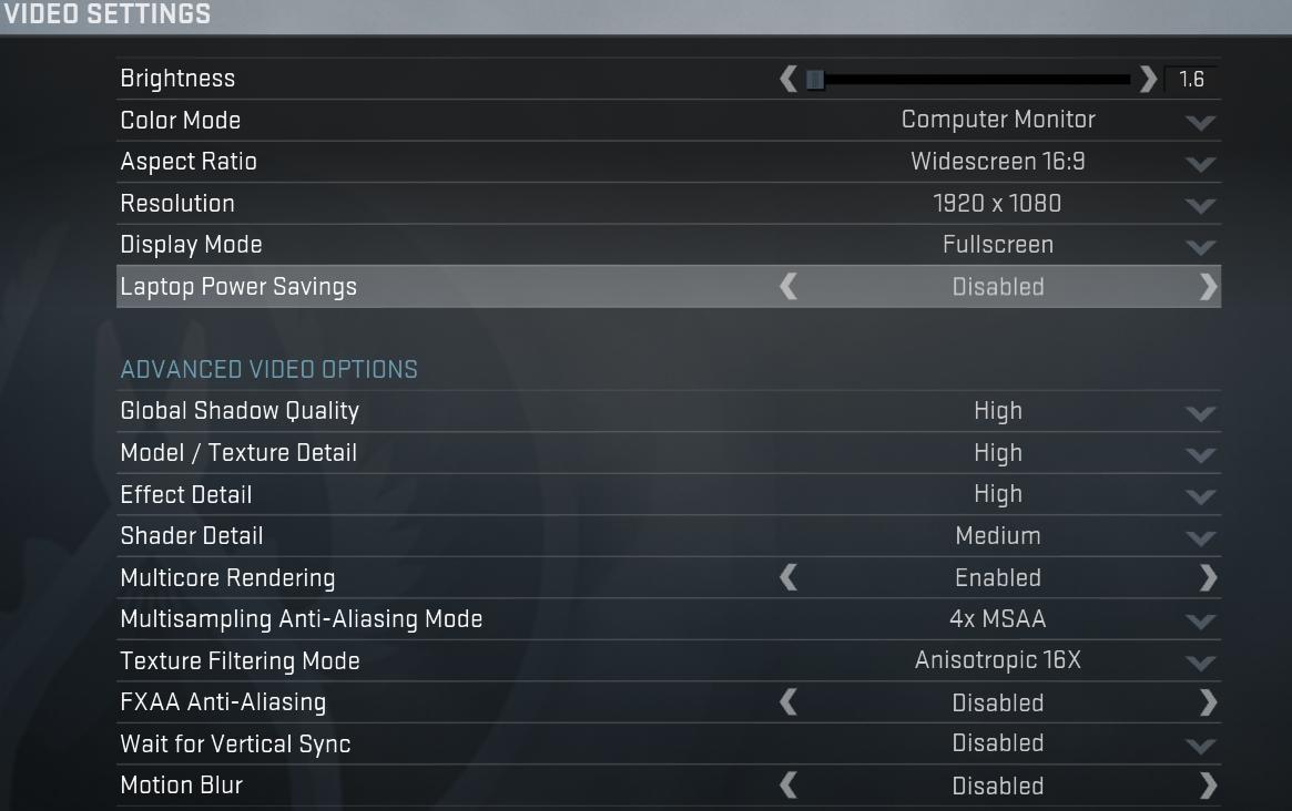 Cs go competitive settings