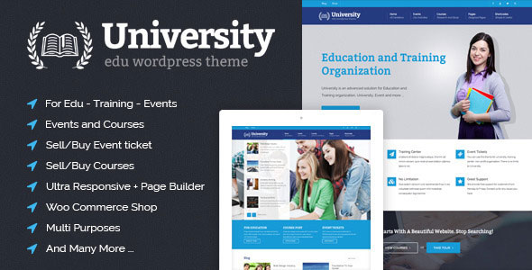 Free Download University V2.0.3 Education, Event and Course Wordpress Theme