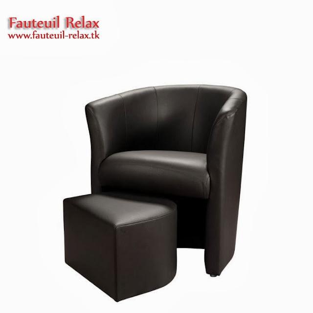 Fauteuil cabriolet baya avec pouf fauteuil relax - Fauteuil relaxation avec pouf ...