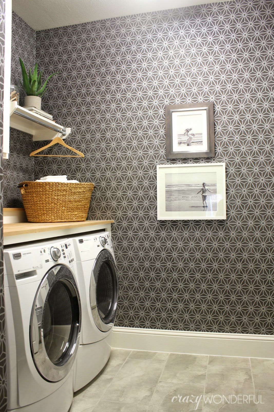 Pictures For Laundry Room Walls Laundry Room Reveal  Crazy Wonderful