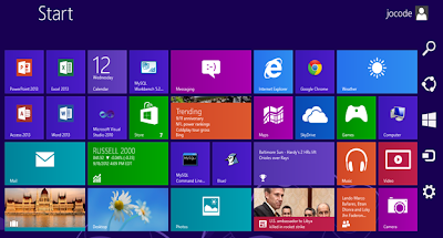 Windows 8 start window