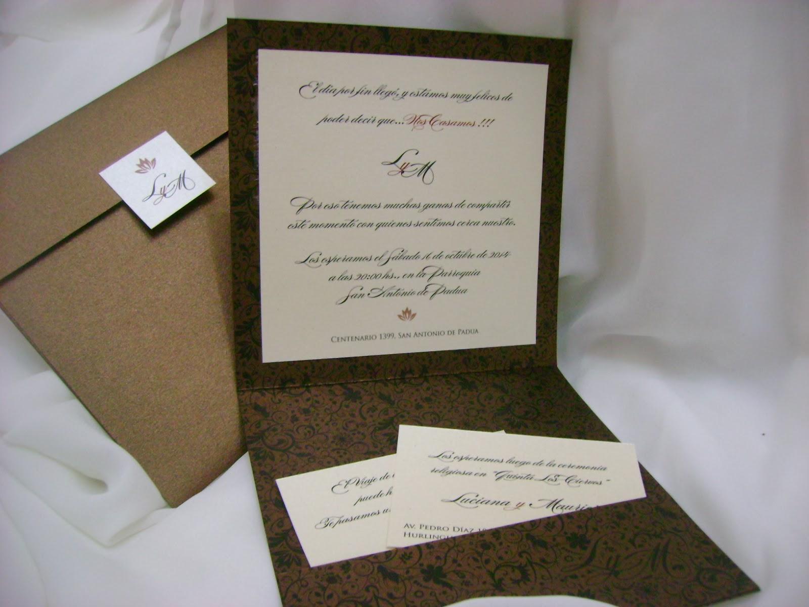 Invitaciones y tarjetas de casamiento - Tarjetas de invitacion de boda originales ...