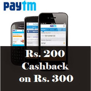 Paytm: Paytm Shopping Rs. 200 Cashback on Rs. 300 [New App Users]