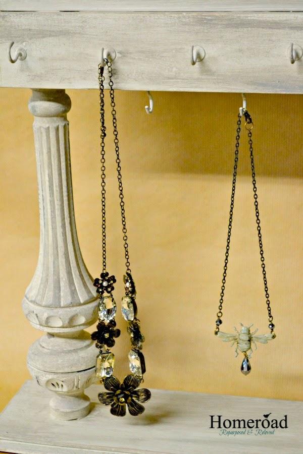 Repurposed Jewelry Display and MudPaint www.homeroad.net