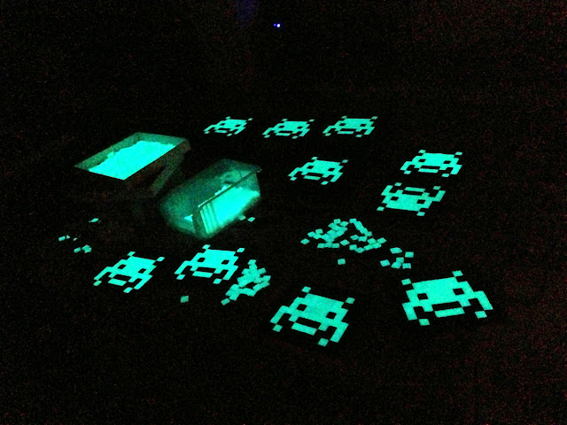 """Release Information For Glow In The Dark Invasion Kit """"IK_15"""" By French Street Artist Space Invader 2"""
