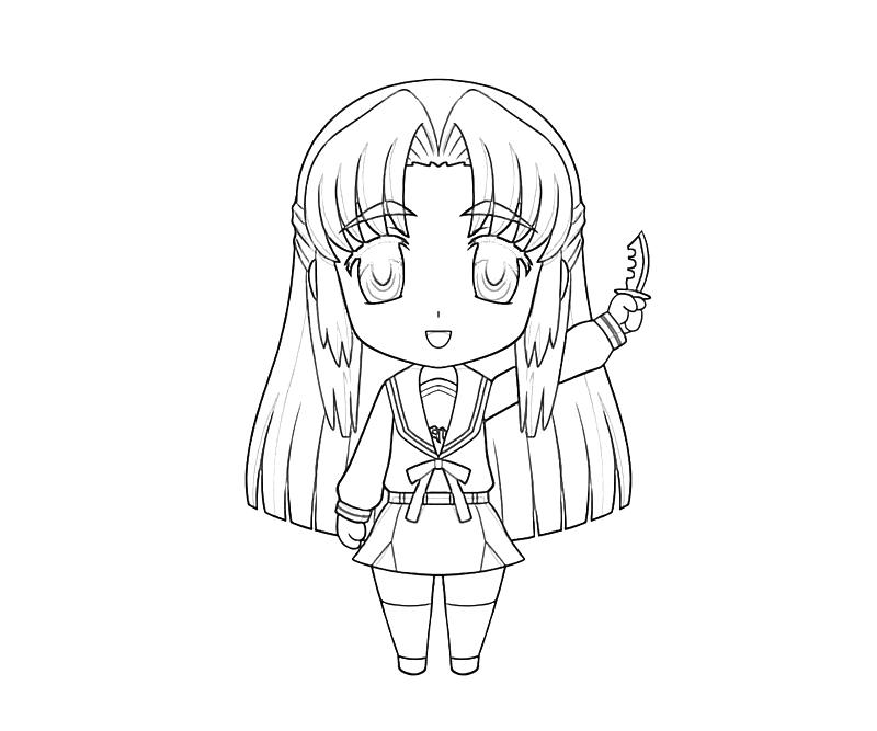 printable-ryouko-asakura-funny-coloring-pages