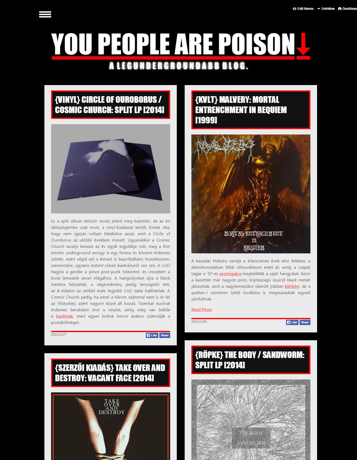 Az új oldal a Tumblr-en.