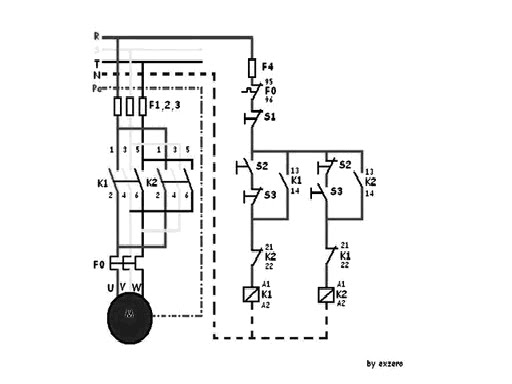 Motor listrik 3 fasa putar kanan kiri ryo elektro keterangan gambar f123 mcb 3 fasa f4 mcb 1 fasa f0 torthermal overload relay k12 magnetic kontaktor s123 tombol push button m motor 3 fasa ccuart Gallery