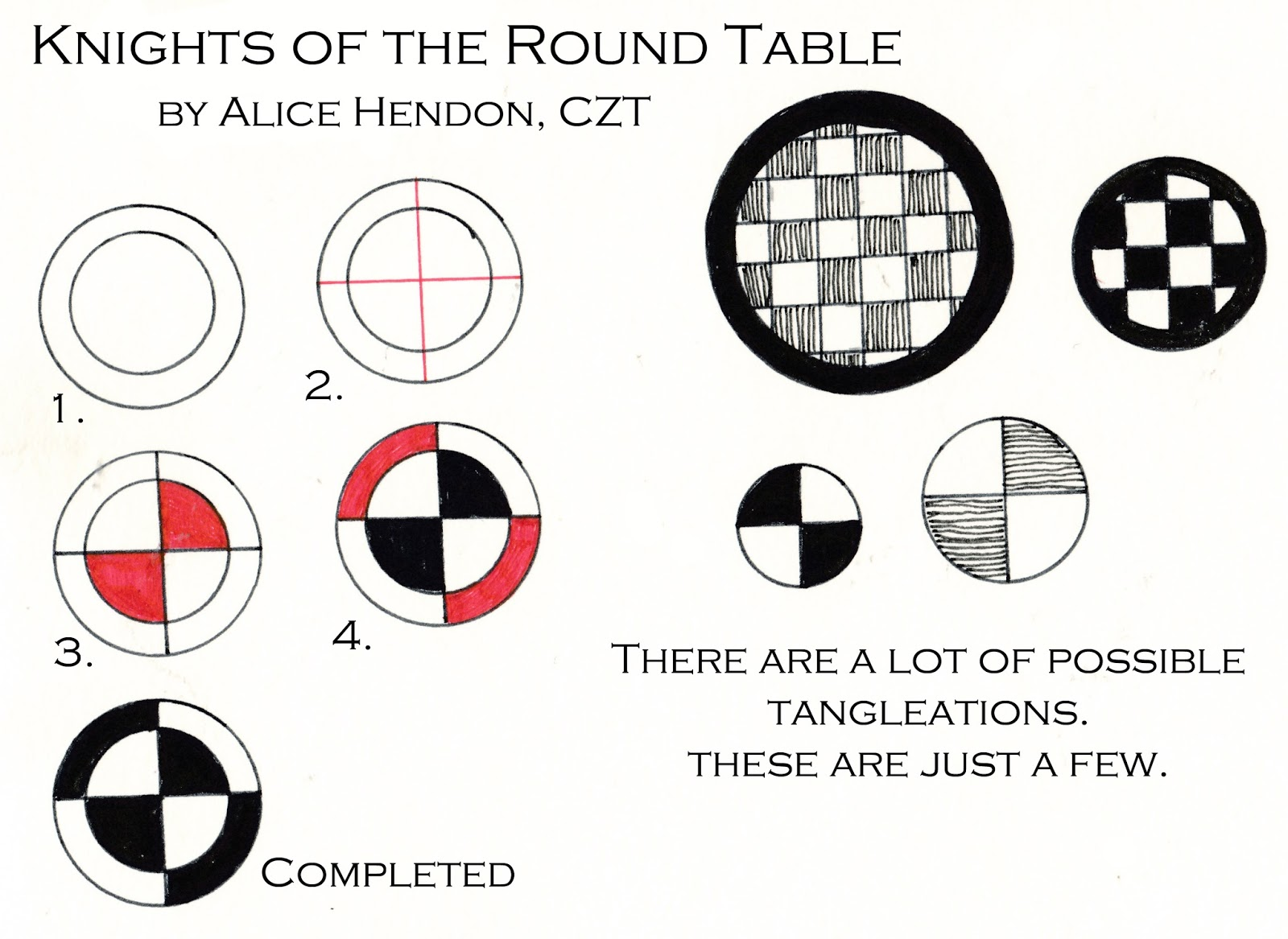 The creator 39 s leaf new tangle knights of the round table for 10 knights of the round table
