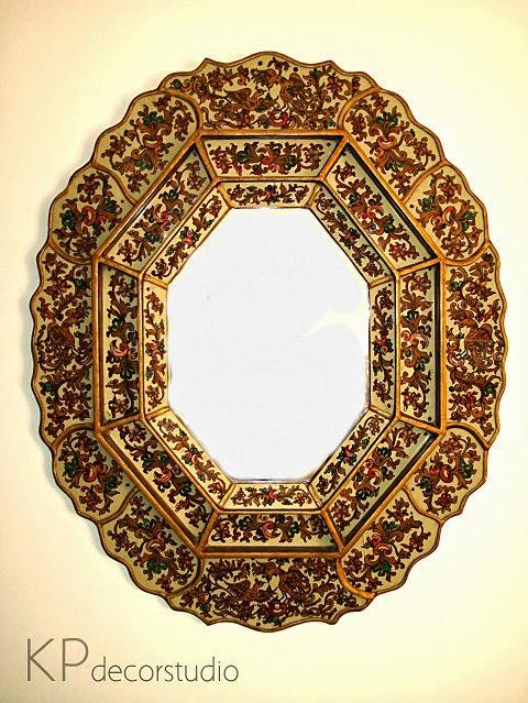 Venta de espejos originales restaurados listos para colocar. Espejos coloridos y únicos, muy decorativos.