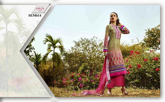 New Cotton Lawn Digital Print Palazzo Style Salwar Kameez