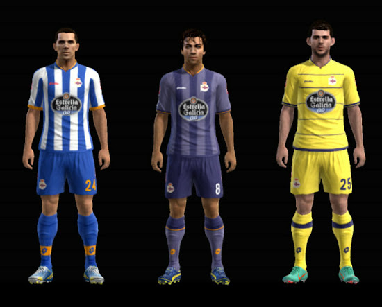 Deportivo La Corua 13 14 Player Kits by HenriikeTW