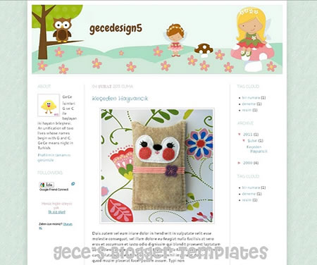 Little Fairies Blogger Template