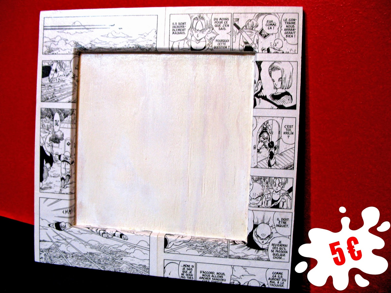 paku gamme manga cadre carr. Black Bedroom Furniture Sets. Home Design Ideas