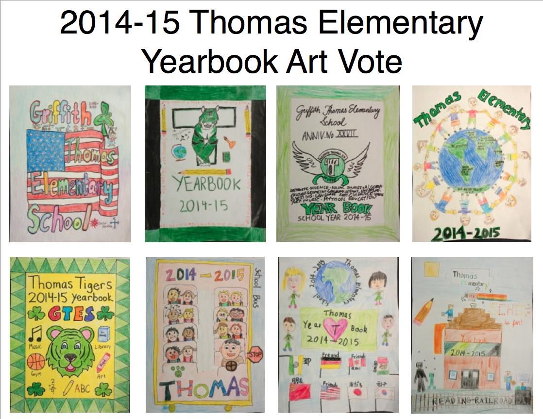 School Yearbook Cover : Thomas elementary art yearbook cover vote at