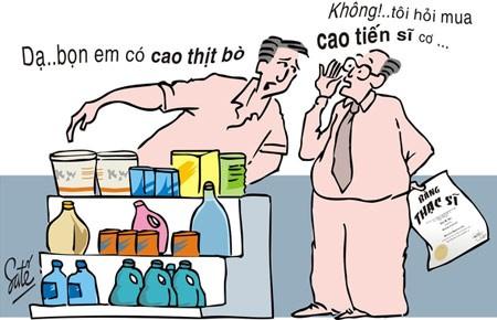 Biếm họa mua cao tiến sĩ