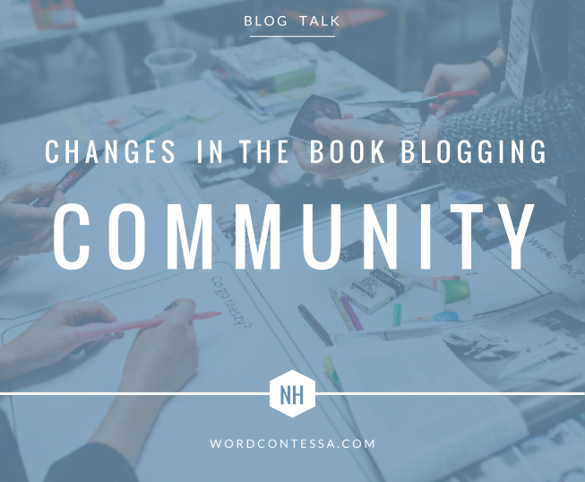Changes in the book blogging community
