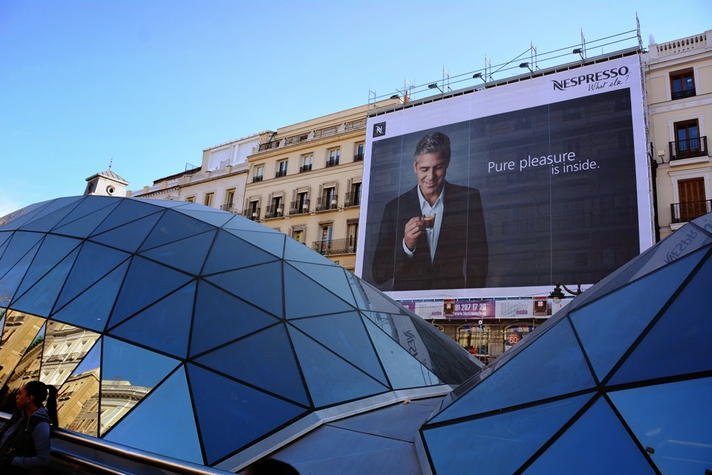 Puerta del Sol Madrid Advertising Clouney