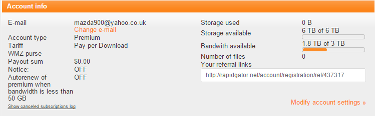 filespace free premium account