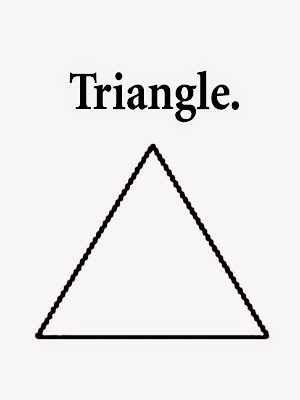 Geometry triangle printable art outlines trouble-free pictures for preschoolers colouring with words