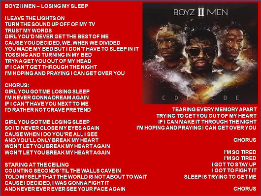 Boyz II Men - Losing My Sleep