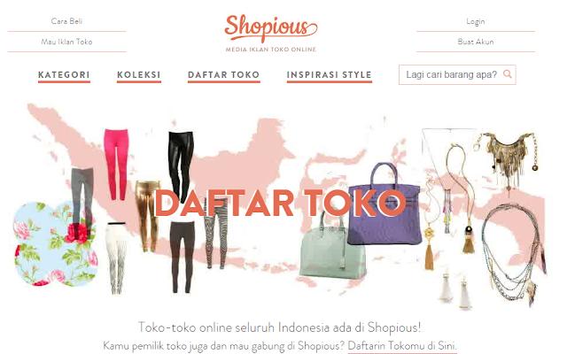 Shopious.com, Toko Online Terlengkap Indonesia