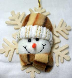 Boneco de neve para árvore de natal