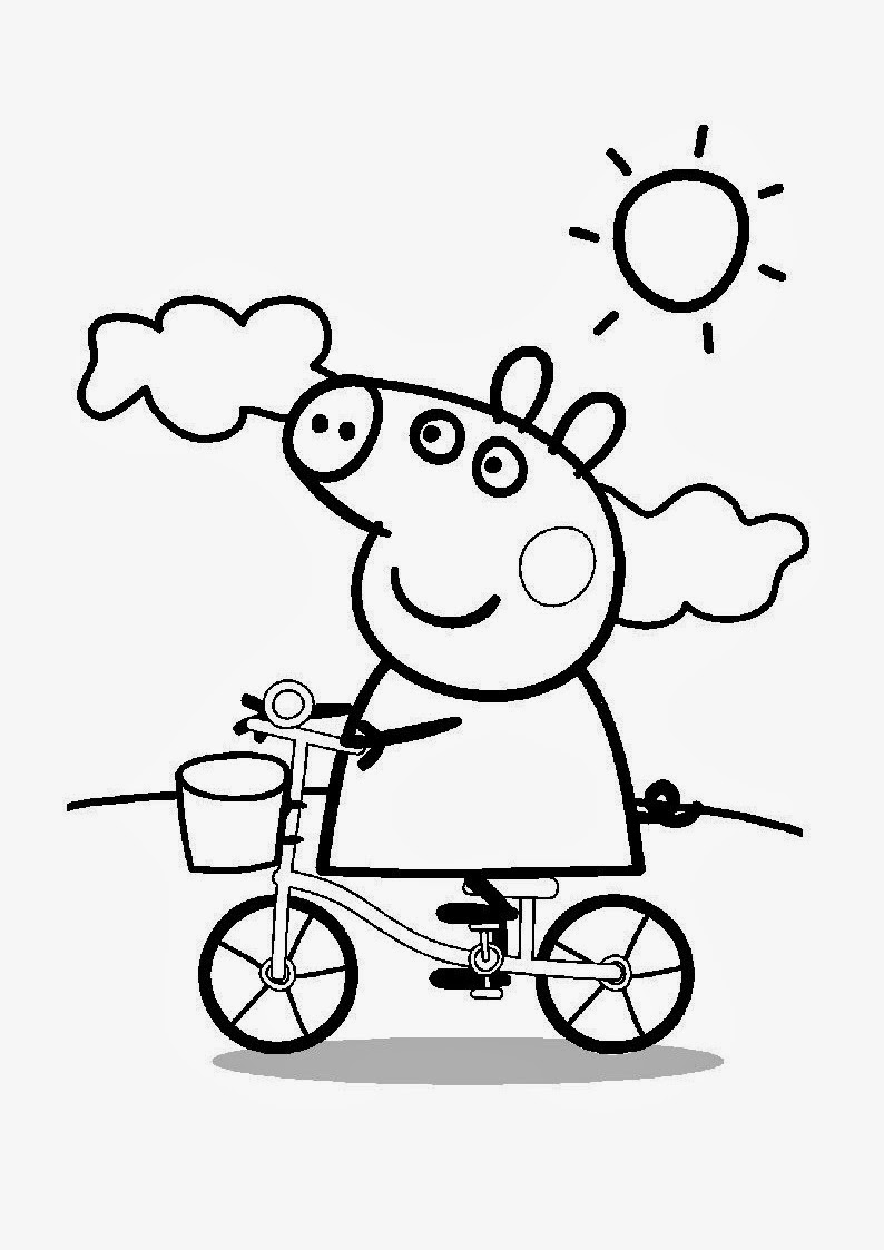 icicle coloring pages - colorea peppa pig im genes de peppa