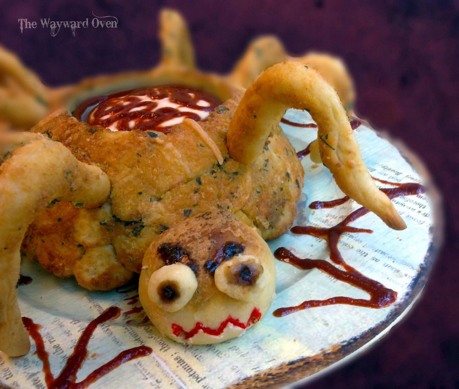 The Wayward Oven: Halloween spider monkey bread bowl
