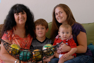 family photo with grandchildren