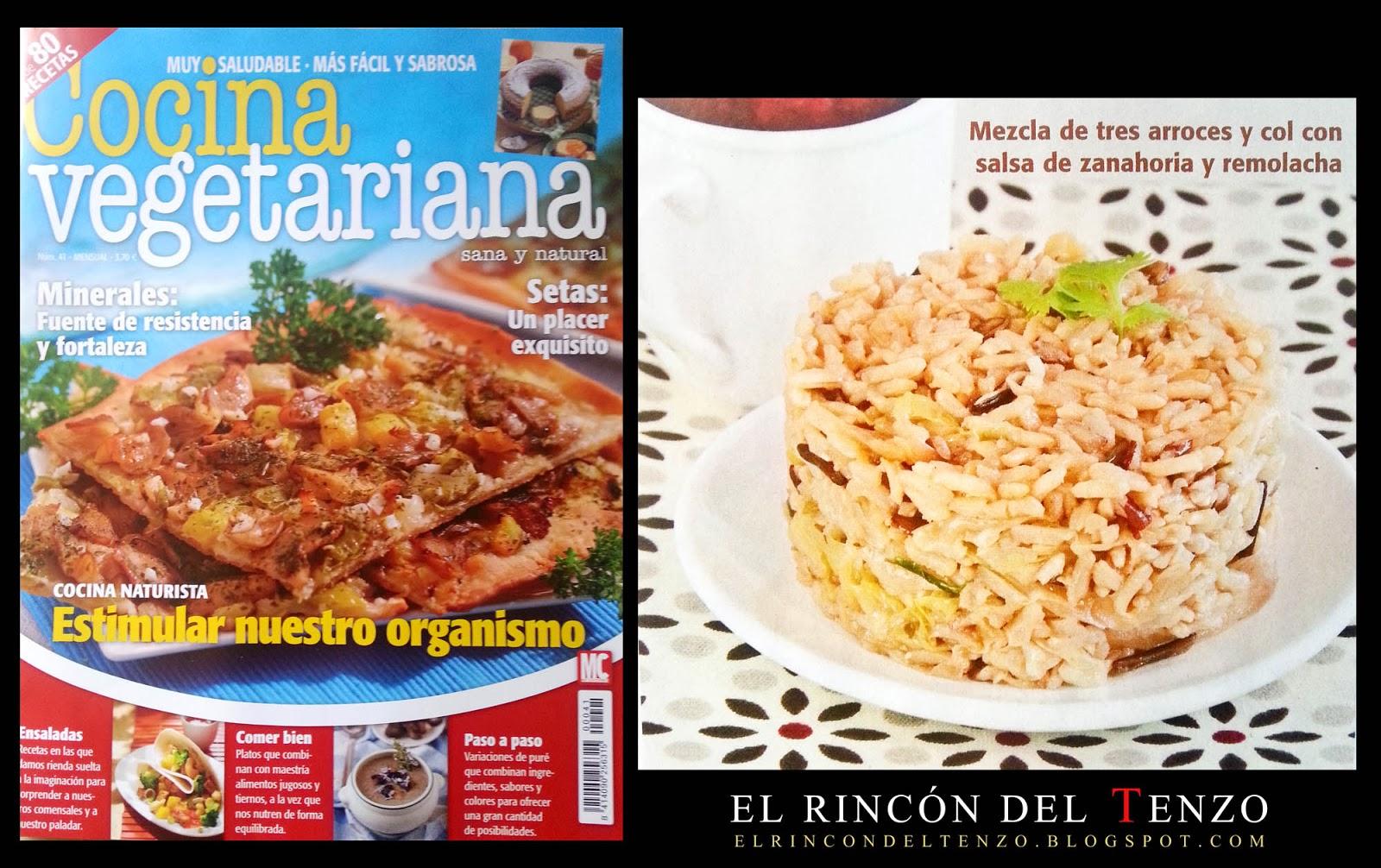 El rinc n del tenzo nueva receta en la revista cocina - Escuela de cocina vegetariana ...
