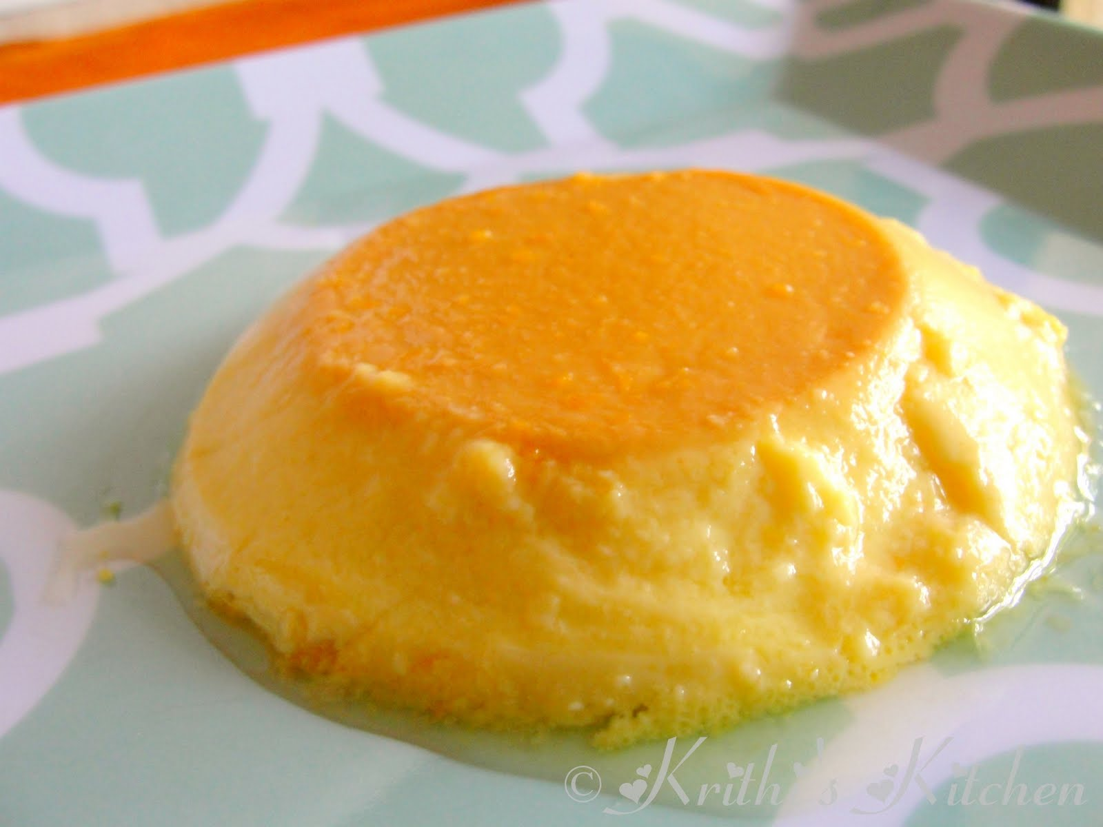 Krithi's Kitchen: Orange Flan / Orange Crème caramel