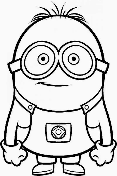 Minion Printable Coloring Pages