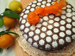 Citrus Chocolate Coconut Ginger Nut flourless torte
