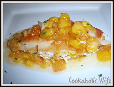 Cookaholic Wife: Chicken with Spicy Peach Sauce