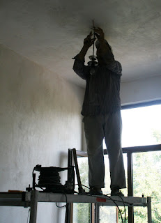 Putting in the light fittings