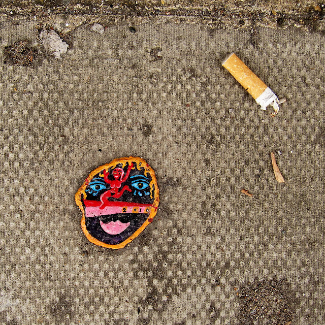 Chewing Gum Art on The Streets By Ben Wilson. Photograph by Tim Irving