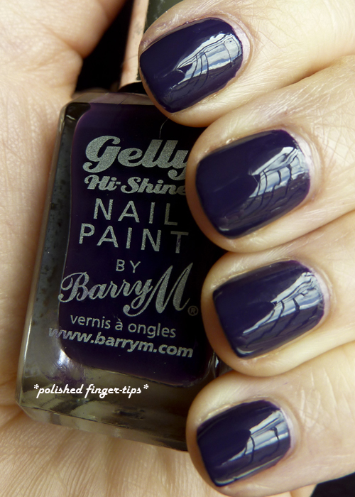 "Barry M Gelly Hi Shine  - ""Plum"" - Natural Light"