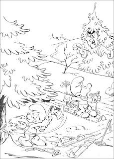 desenhos para imprimir smurf
