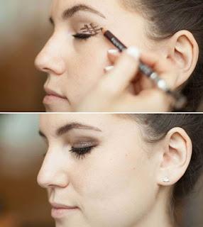 maquillaje ahumado con numeral