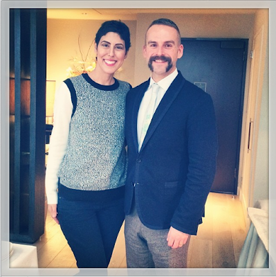 Jessica Moazami with Artist MICHAEL ANGOVE designing FOR JO MALONE LONDON collab