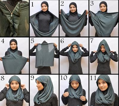 video+cara+memakai+jilbab Cara Memakai Jilbab Modern Terbaru 2014