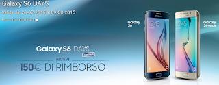 Galaxy S6 Days: Samsung ti rimborsa 150 euro