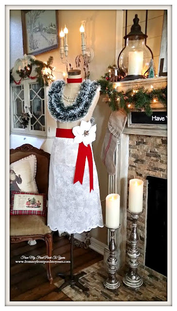 Farmhouse Style- Christmas Dress Form-Antique Farmhouse Dress Makers Form-From My Front Porch To Yours