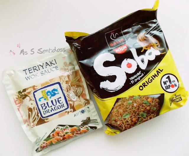 Salsa Fry Teriyaki y Soba Gallo Nissin.