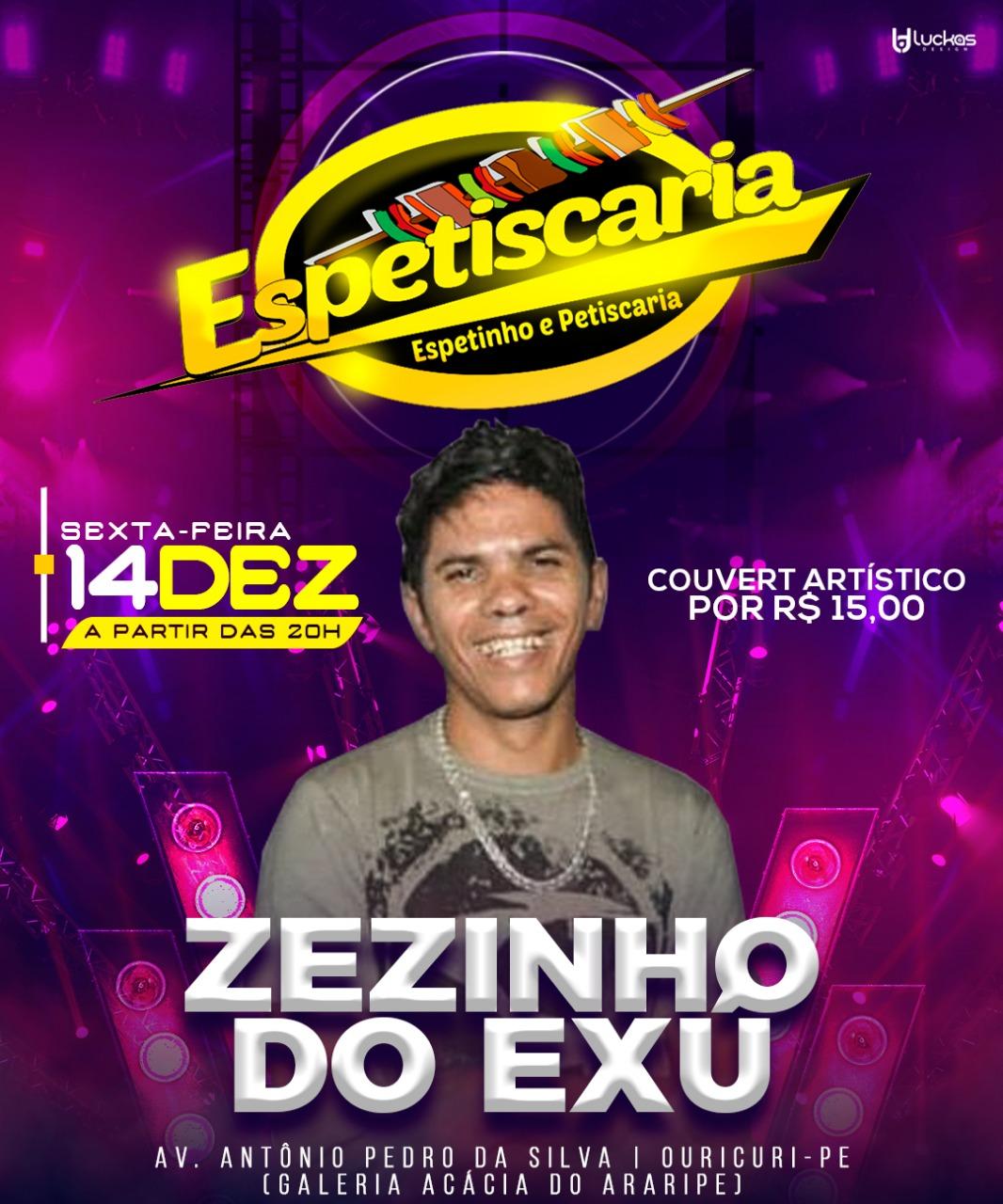 ZEZINHO DO EXU DIA 14 EM OURICURI