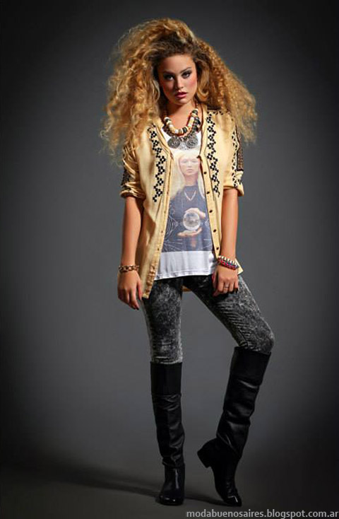 Moda sacos de moda tejidos otoño invierno 2015 Sophya
