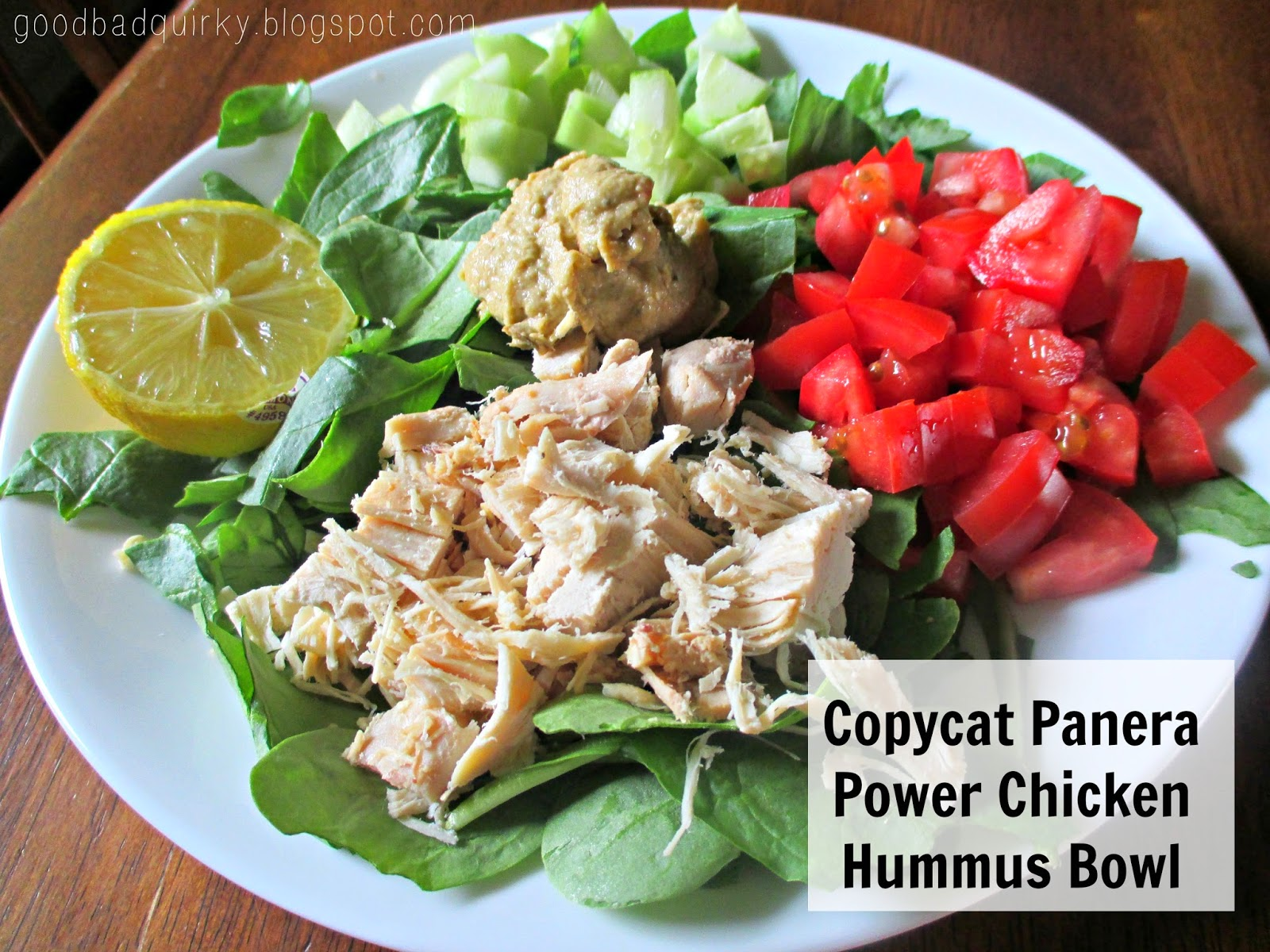 Copy cat Panera Power Chicken Hummus Bowl